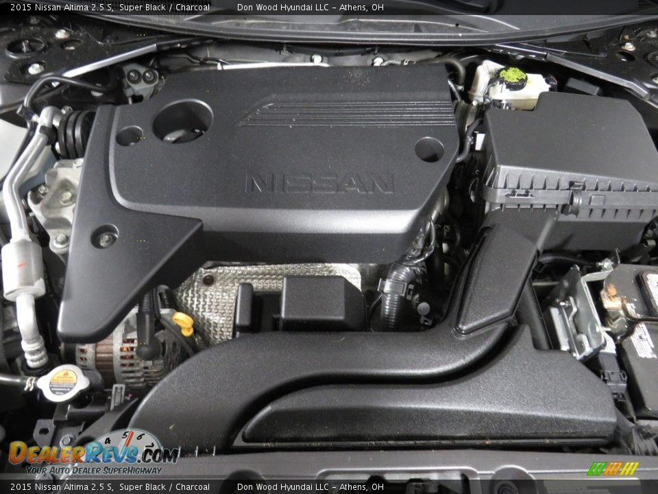 2015 Nissan Altima 2.5 S Super Black / Charcoal Photo #6