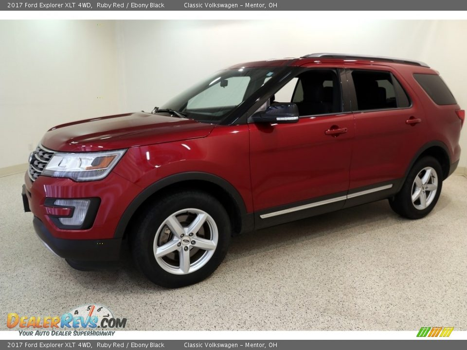 2017 Ford Explorer XLT 4WD Ruby Red / Ebony Black Photo #3