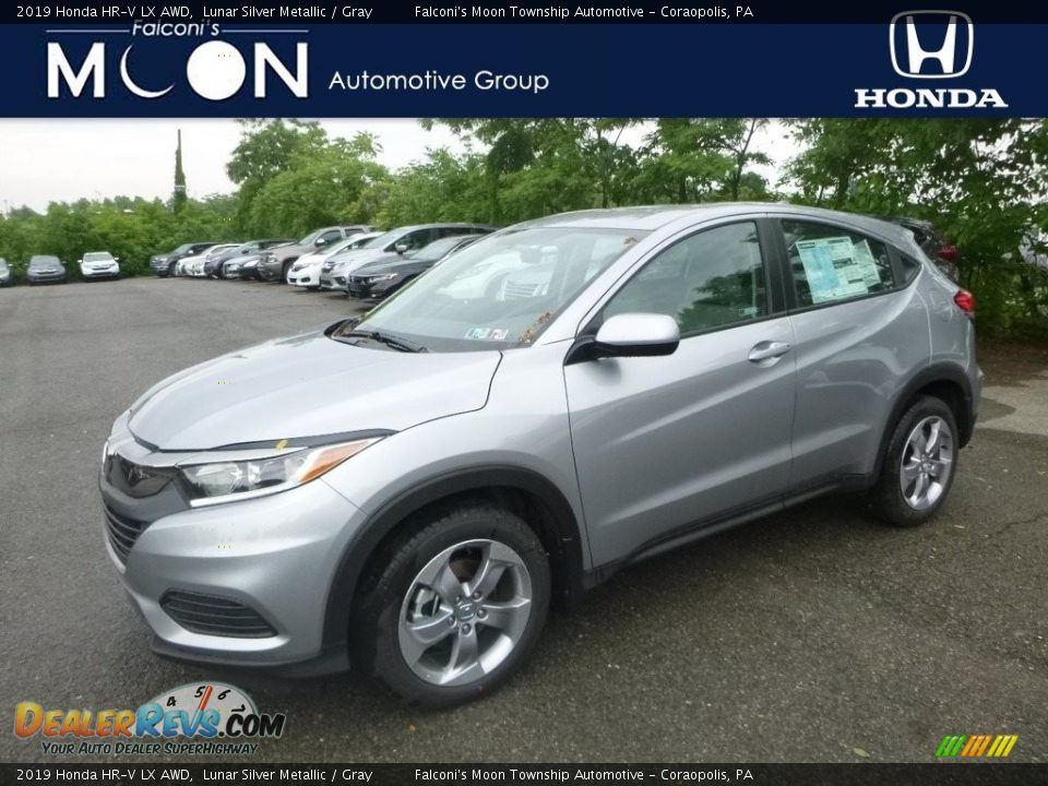 2019 Honda HR-V LX AWD Lunar Silver Metallic / Gray Photo #1