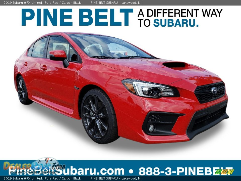 2019 Subaru WRX Limited Pure Red / Carbon Black Photo #1