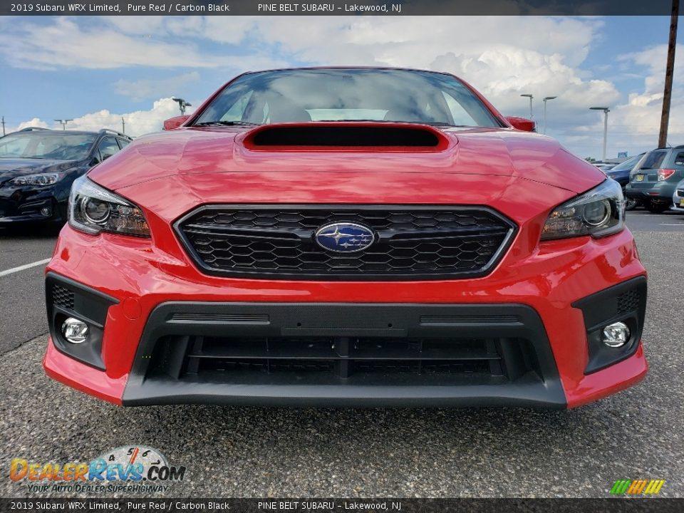 2019 Subaru WRX Limited Pure Red / Carbon Black Photo #2