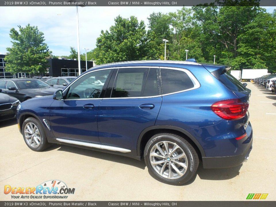 2019 BMW X3 xDrive30i Phytonic Blue Metallic / Black Photo #5