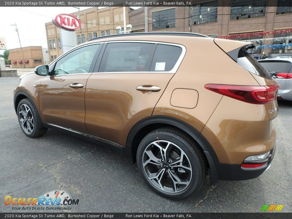 2020 Kia Sportage SX Turbo AWD Burnished Copper / Beige Photo #5