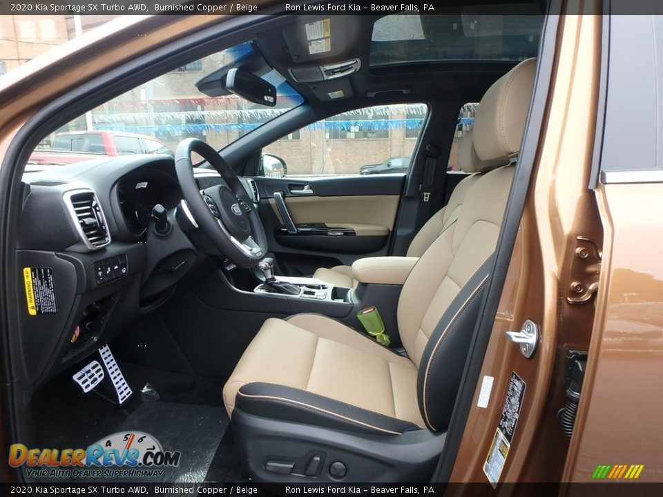 Front Seat of 2020 Kia Sportage SX Turbo AWD Photo #11