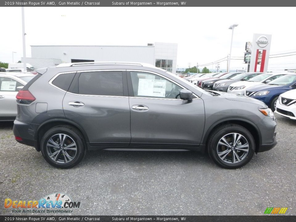 2019 Nissan Rogue SV AWD Gun Metallic / Charcoal Photo #3
