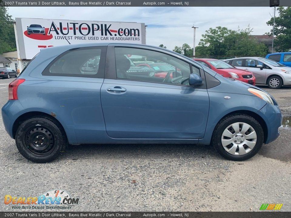2007 Toyota Yaris 3 Door Liftback Bayou Blue Metallic / Dark Charcoal Photo #2
