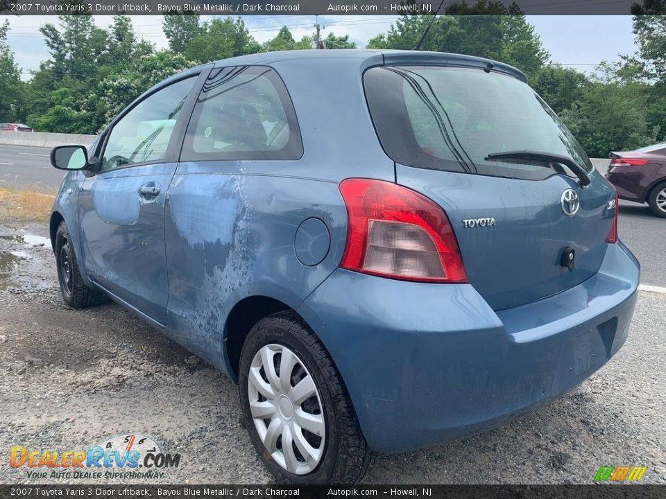 2007 Toyota Yaris 3 Door Liftback Bayou Blue Metallic / Dark Charcoal Photo #5