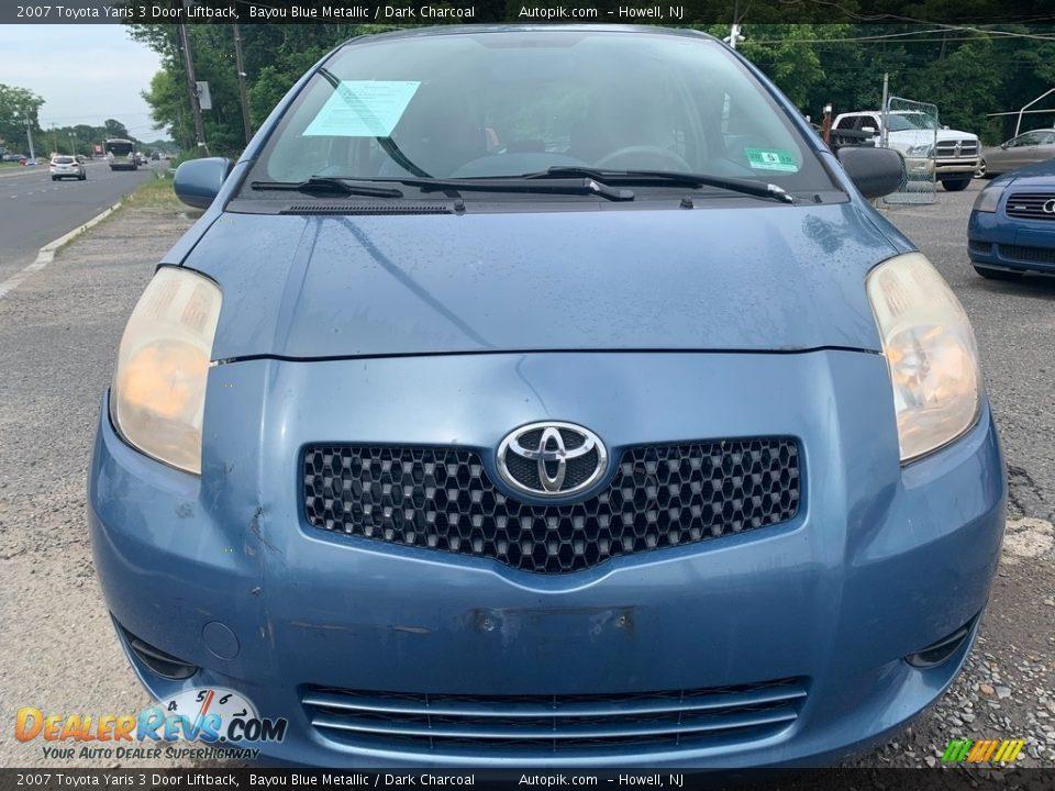 2007 Toyota Yaris 3 Door Liftback Bayou Blue Metallic / Dark Charcoal Photo #8