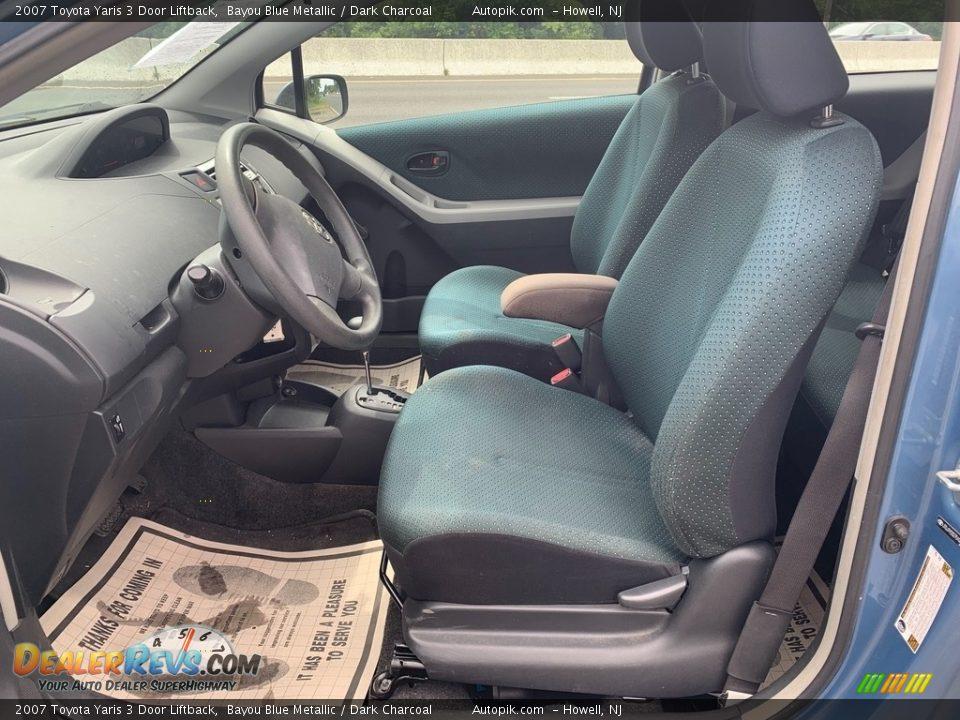 2007 Toyota Yaris 3 Door Liftback Bayou Blue Metallic / Dark Charcoal Photo #10