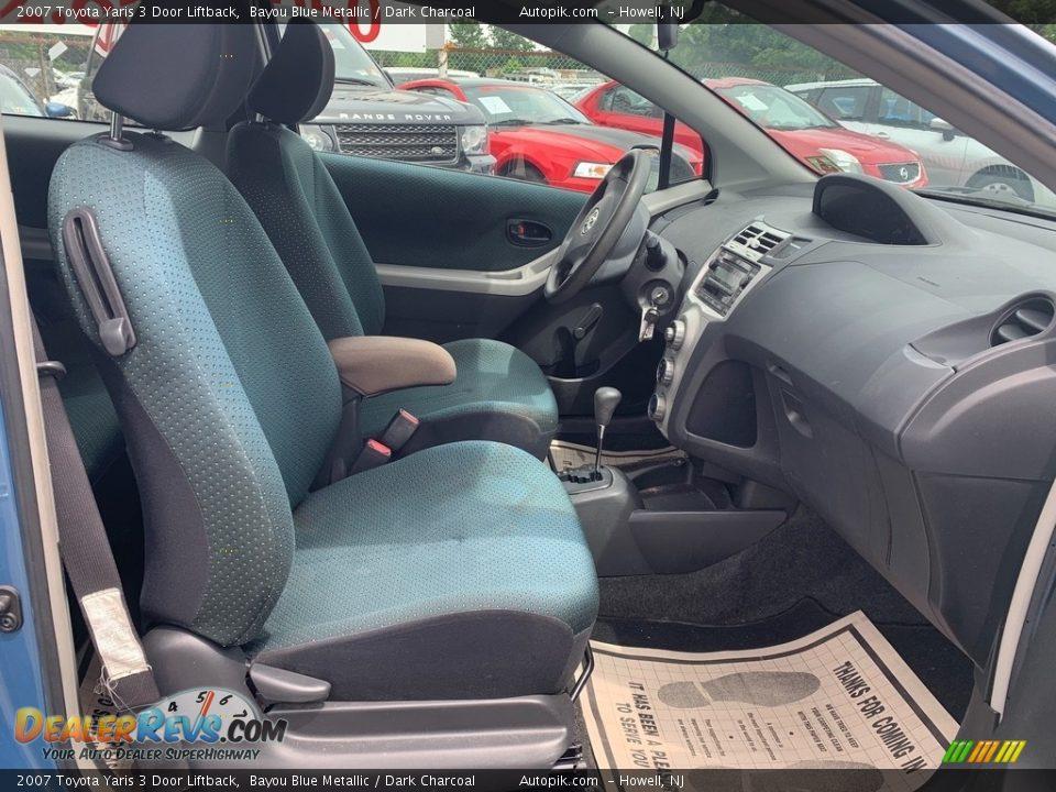 2007 Toyota Yaris 3 Door Liftback Bayou Blue Metallic / Dark Charcoal Photo #12