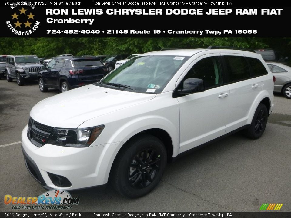 2019 Dodge Journey SE Vice White / Black Photo #1