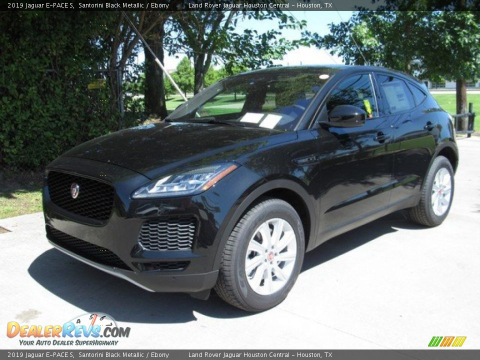 2019 Jaguar E-PACE S Santorini Black Metallic / Ebony Photo #10
