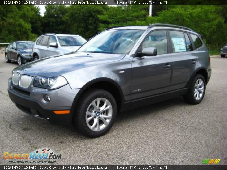 2009 bmw x3 xdrive30i space grey metallic sand beige. Black Bedroom Furniture Sets. Home Design Ideas