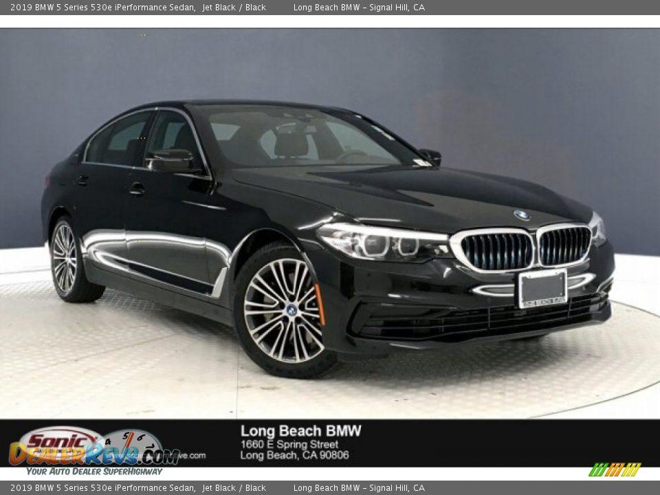 2019 BMW 5 Series 530e iPerformance Sedan Jet Black / Black Photo #1