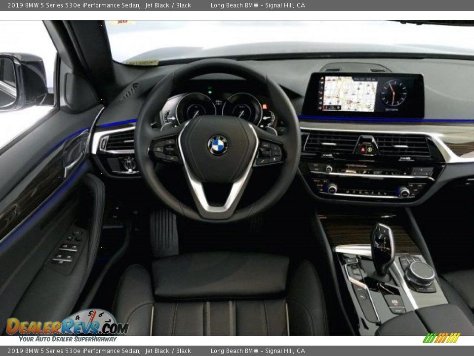 2019 BMW 5 Series 530e iPerformance Sedan Jet Black / Black Photo #4