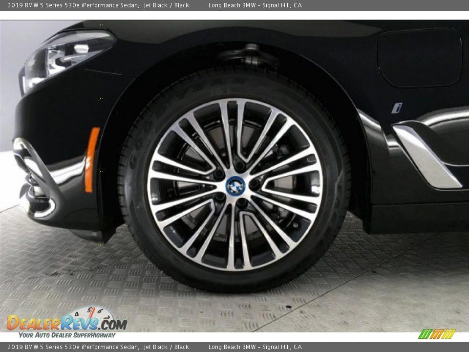 2019 BMW 5 Series 530e iPerformance Sedan Jet Black / Black Photo #8