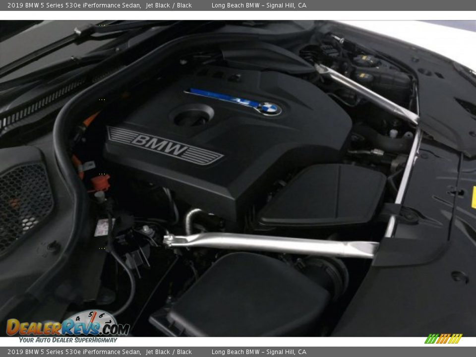 2019 BMW 5 Series 530e iPerformance Sedan Jet Black / Black Photo #27