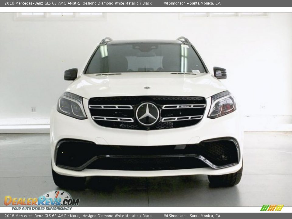 2018 Mercedes-Benz GLS 63 AMG 4Matic designo Diamond White Metallic / Black Photo #2