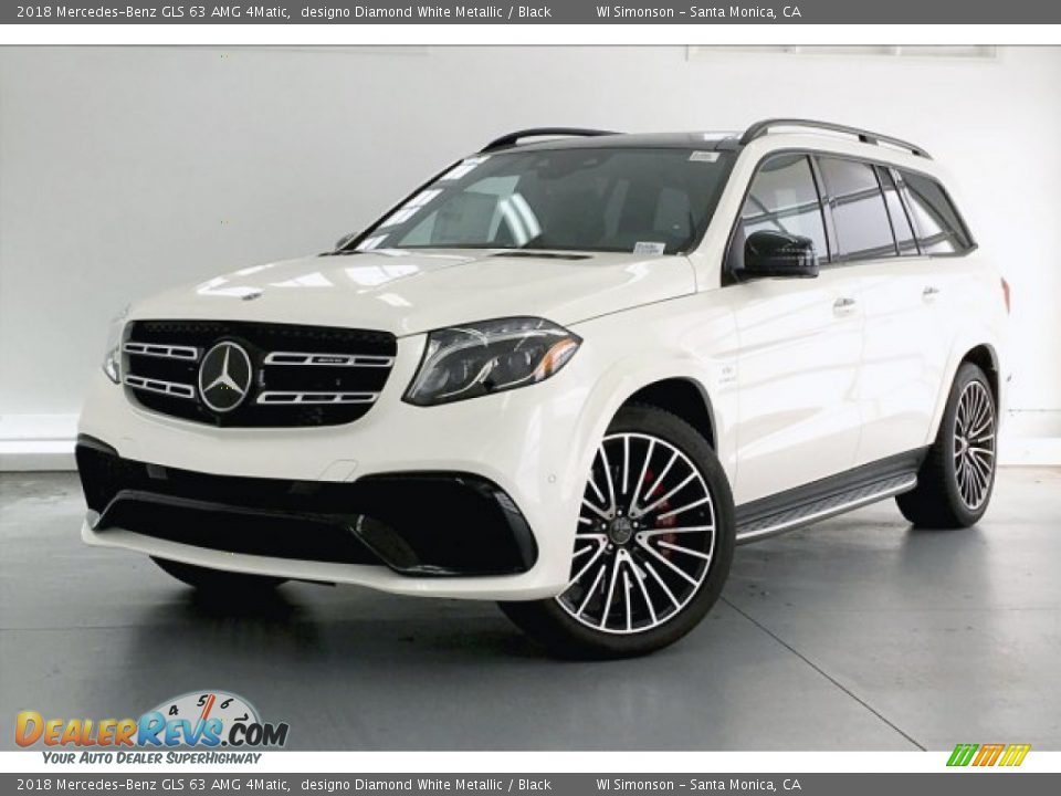 2018 Mercedes-Benz GLS 63 AMG 4Matic designo Diamond White Metallic / Black Photo #12