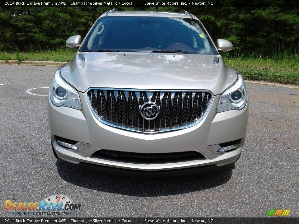 2014 Buick Enclave Premium AWD Champagne Silver Metallic / Cocoa Photo #3