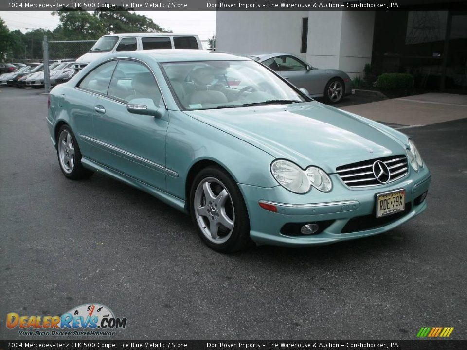 2004 mercedes benz clk 500 coupe ice blue metallic stone for 2004 mercedes benz clk 500
