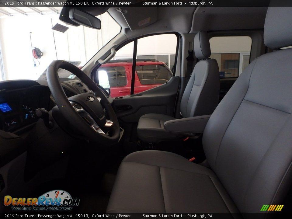 2019 Ford Transit Passenger Wagon XL 150 LR Oxford White / Pewter Photo #7