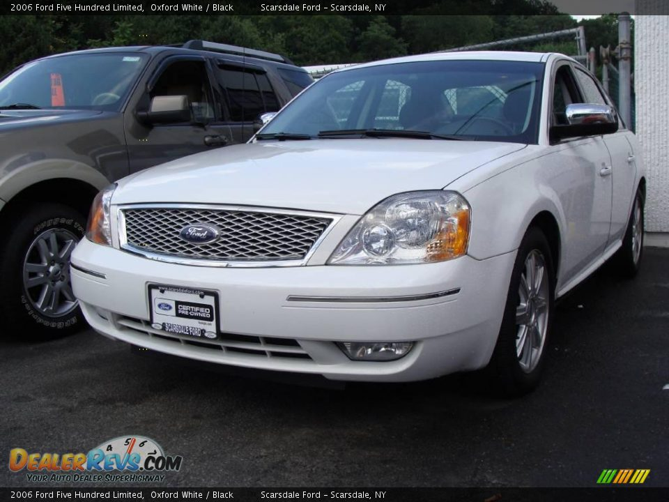 2006 ford five hundred limited oxford white black photo. Cars Review. Best American Auto & Cars Review