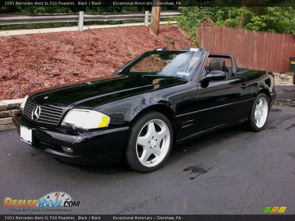 2001 mercedes benz sl 500 roadster black black photo 1 for Mercedes benz sl roadster