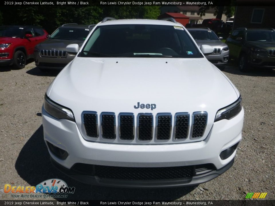 2019 Jeep Cherokee Latitude Bright White / Black Photo #8