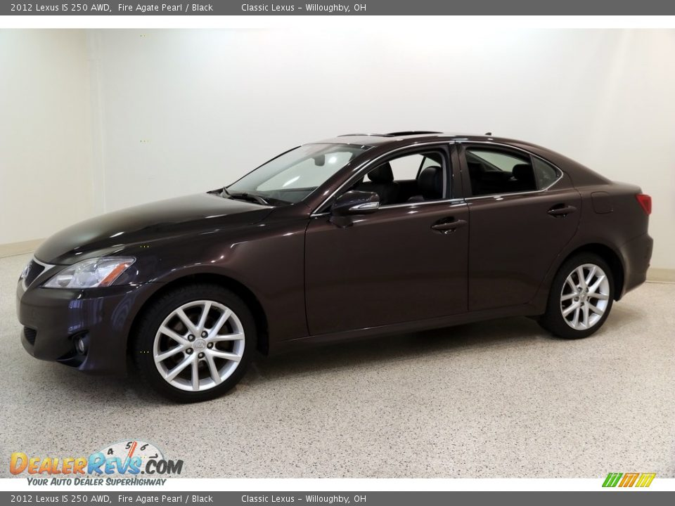 2012 Lexus IS 250 AWD Fire Agate Pearl / Black Photo #3