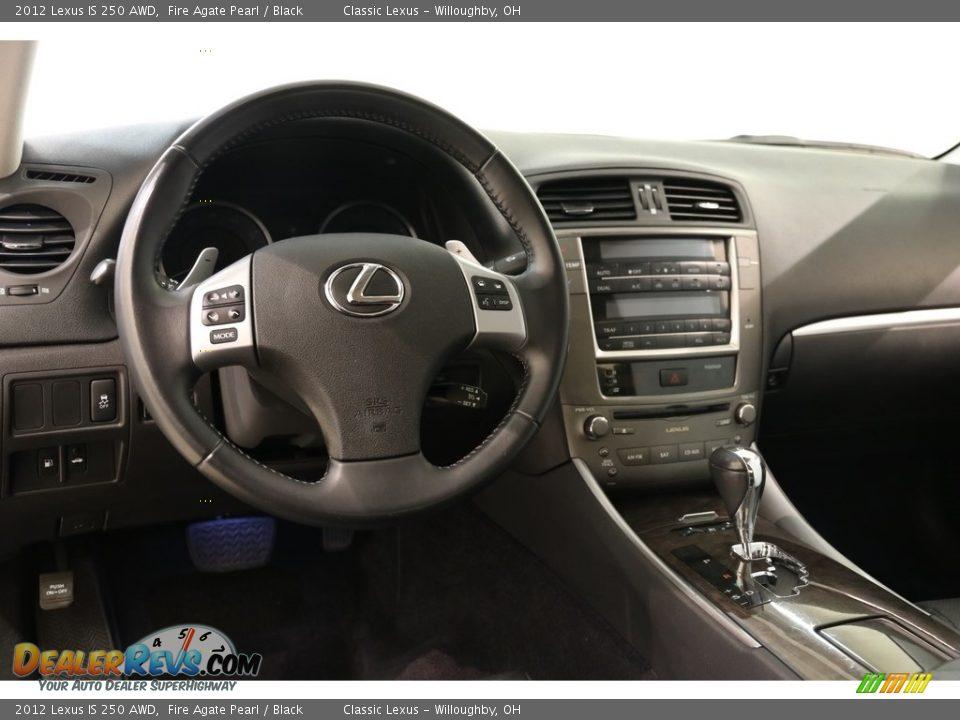 2012 Lexus IS 250 AWD Fire Agate Pearl / Black Photo #6