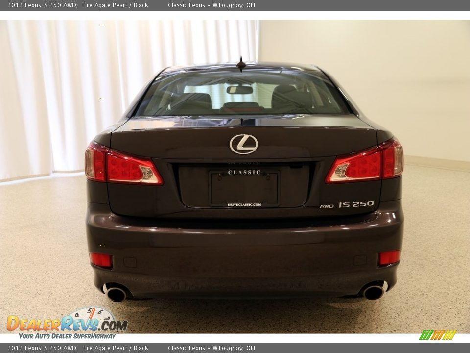 2012 Lexus IS 250 AWD Fire Agate Pearl / Black Photo #17