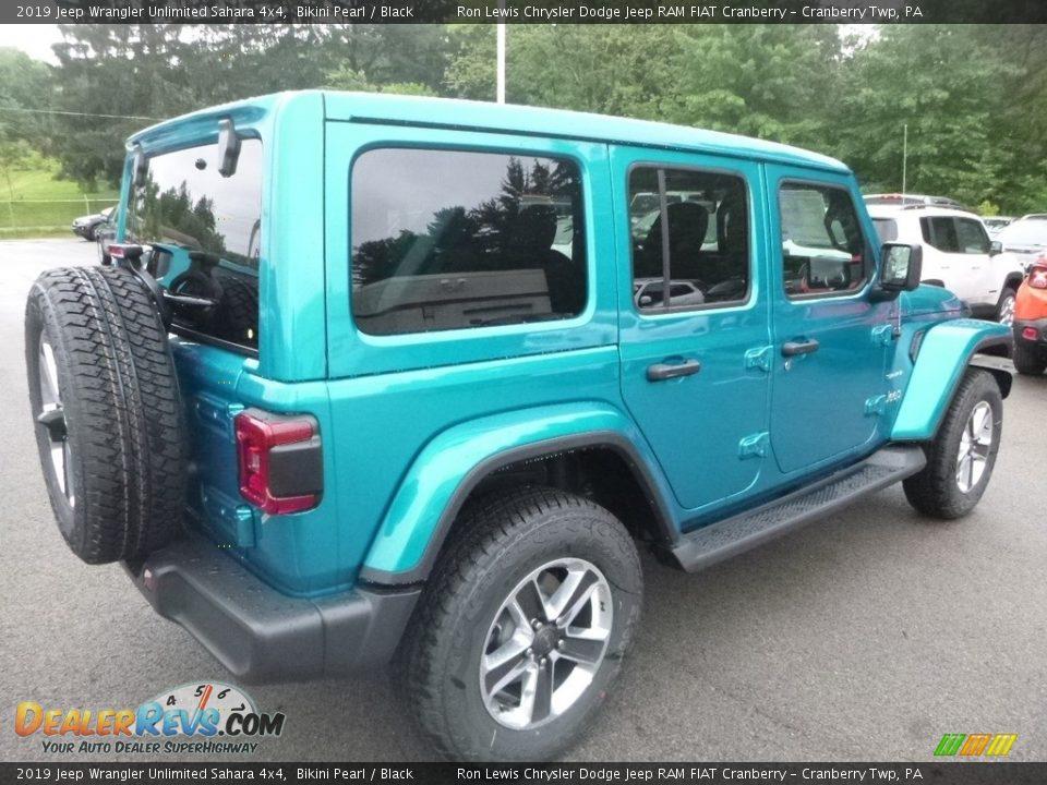 2019 Jeep Wrangler Unlimited Sahara 4x4 Bikini Pearl / Black Photo #5