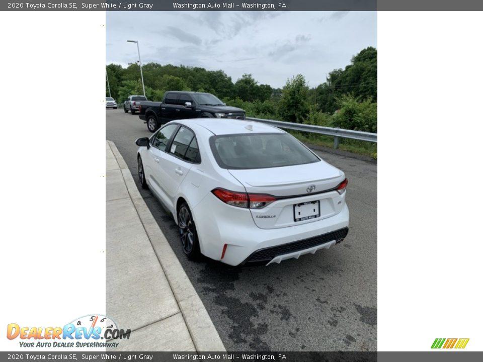 2020 Toyota Corolla SE Super White / Light Gray Photo #5
