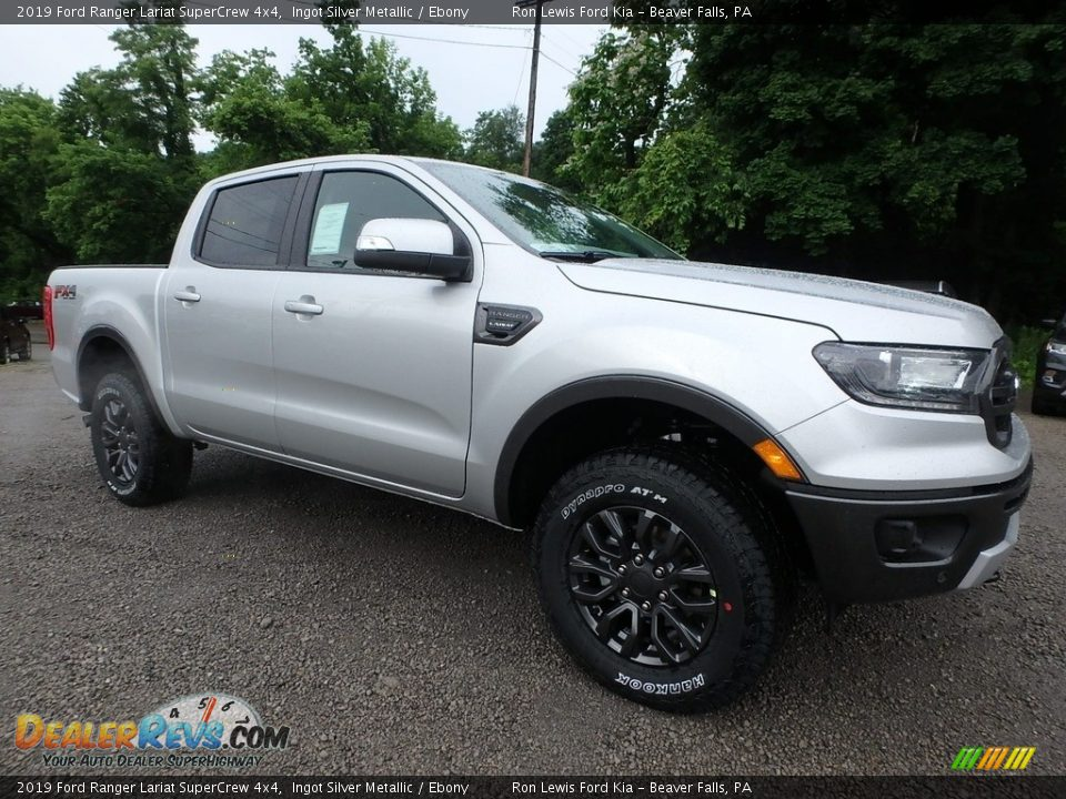 Front 3/4 View of 2019 Ford Ranger Lariat SuperCrew 4x4 Photo #8