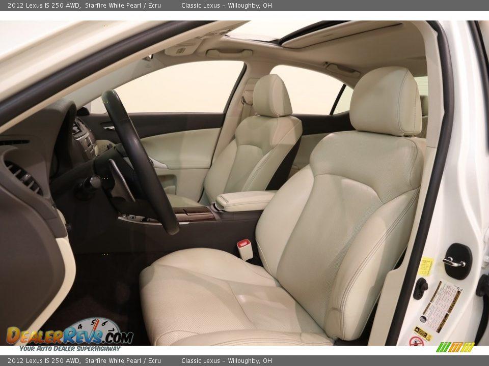2012 Lexus IS 250 AWD Starfire White Pearl / Ecru Photo #5