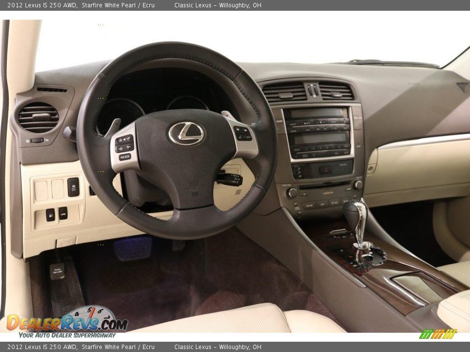 2012 Lexus IS 250 AWD Starfire White Pearl / Ecru Photo #6