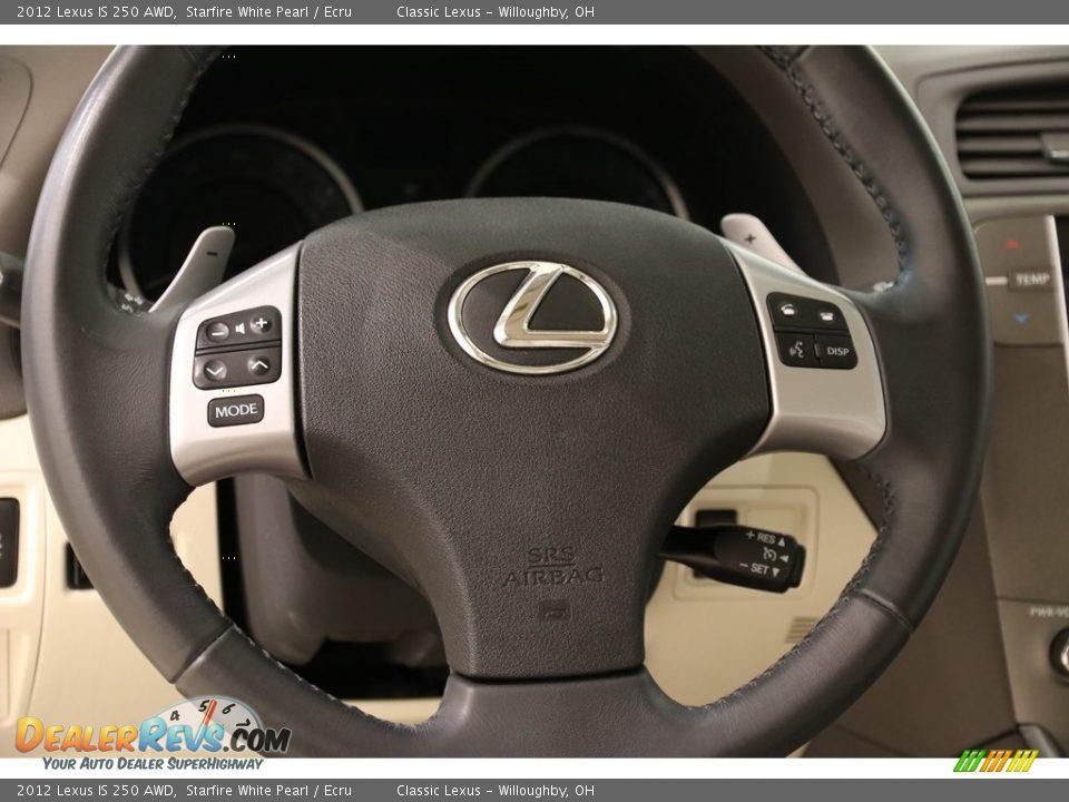 2012 Lexus IS 250 AWD Starfire White Pearl / Ecru Photo #7