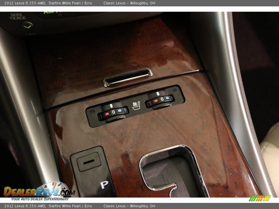 2012 Lexus IS 250 AWD Starfire White Pearl / Ecru Photo #13
