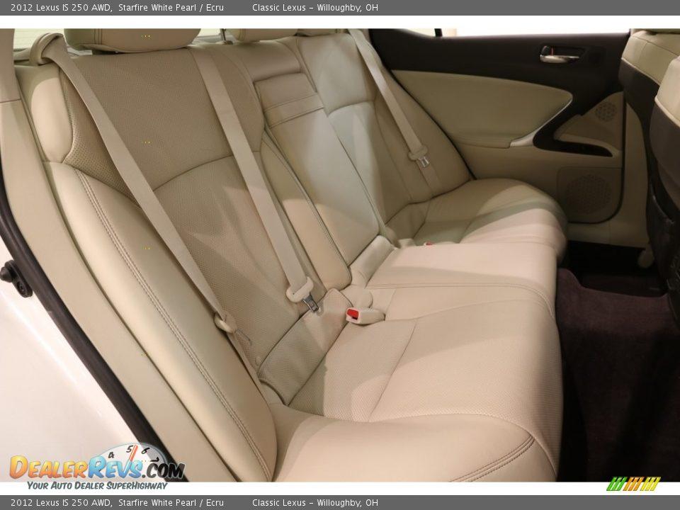 2012 Lexus IS 250 AWD Starfire White Pearl / Ecru Photo #15