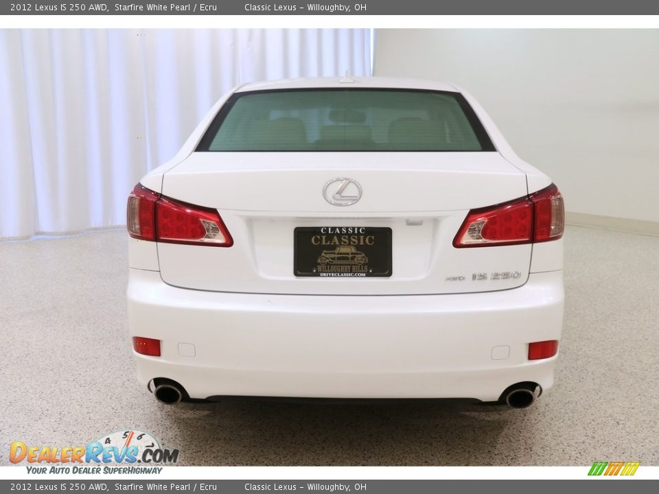 2012 Lexus IS 250 AWD Starfire White Pearl / Ecru Photo #17