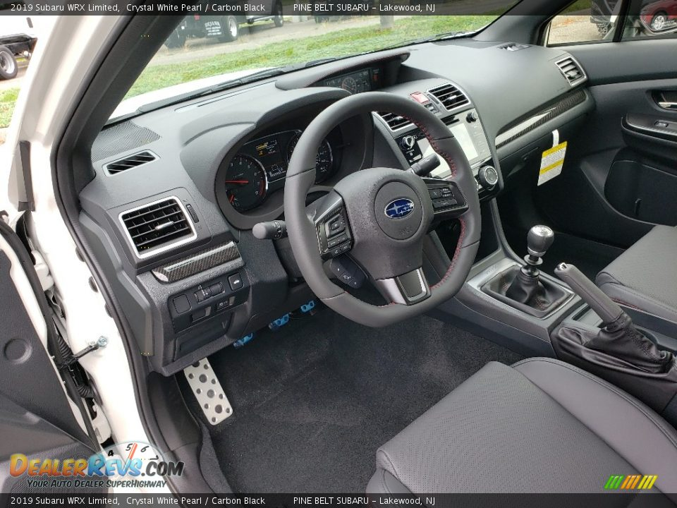 Carbon Black Interior - 2019 Subaru WRX Limited Photo #7
