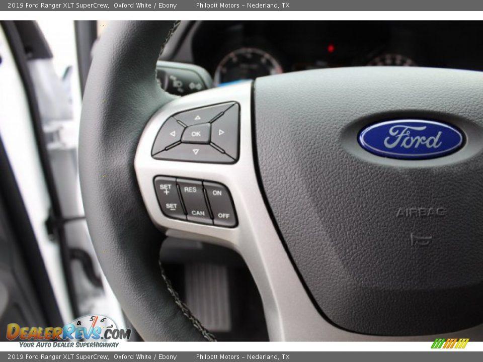 2019 Ford Ranger XLT SuperCrew Oxford White / Ebony Photo #13