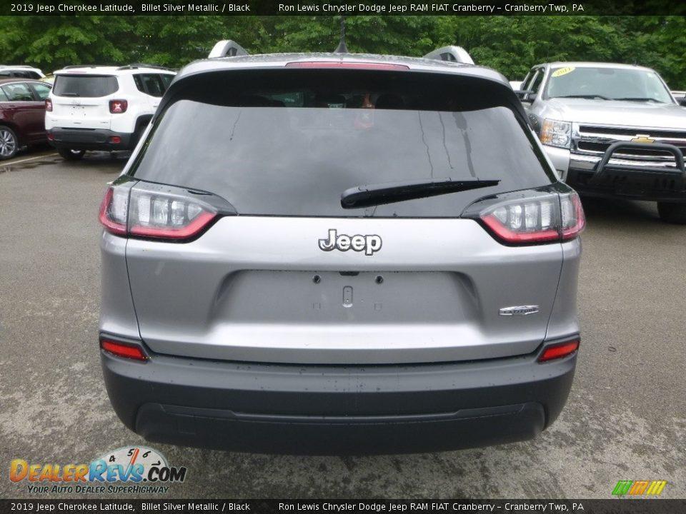 2019 Jeep Cherokee Latitude Billet Silver Metallic / Black Photo #4