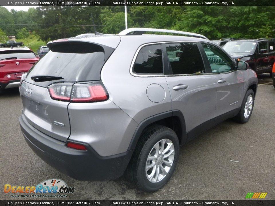 2019 Jeep Cherokee Latitude Billet Silver Metallic / Black Photo #5