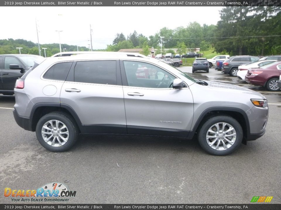 2019 Jeep Cherokee Latitude Billet Silver Metallic / Black Photo #6