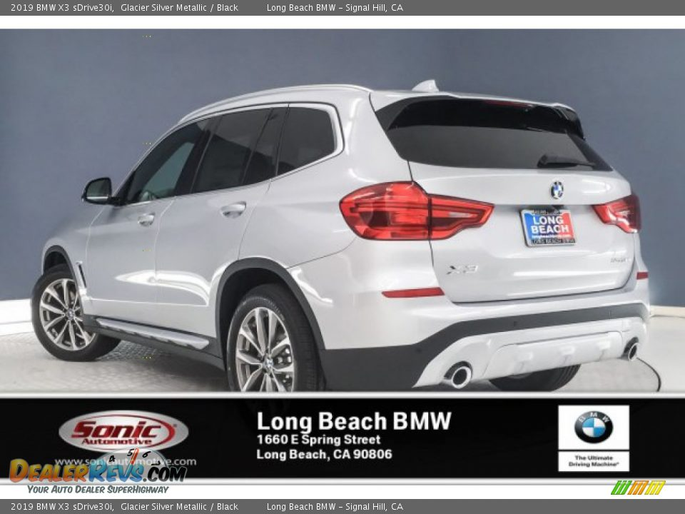 2019 BMW X3 sDrive30i Glacier Silver Metallic / Black Photo #2