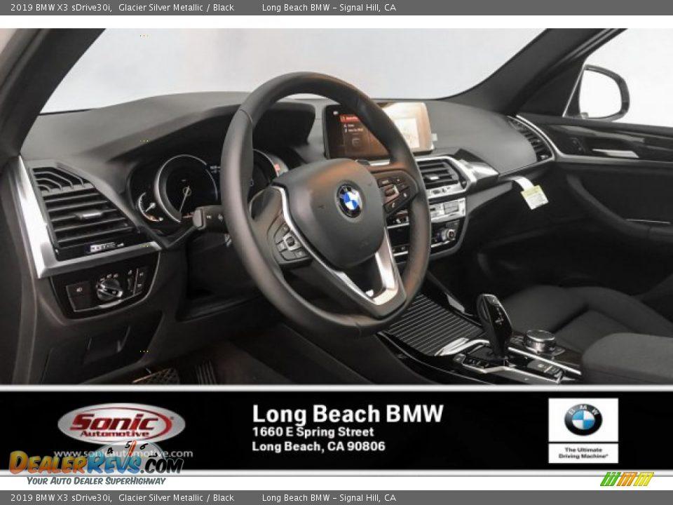 2019 BMW X3 sDrive30i Glacier Silver Metallic / Black Photo #4