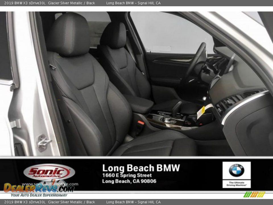 2019 BMW X3 sDrive30i Glacier Silver Metallic / Black Photo #5