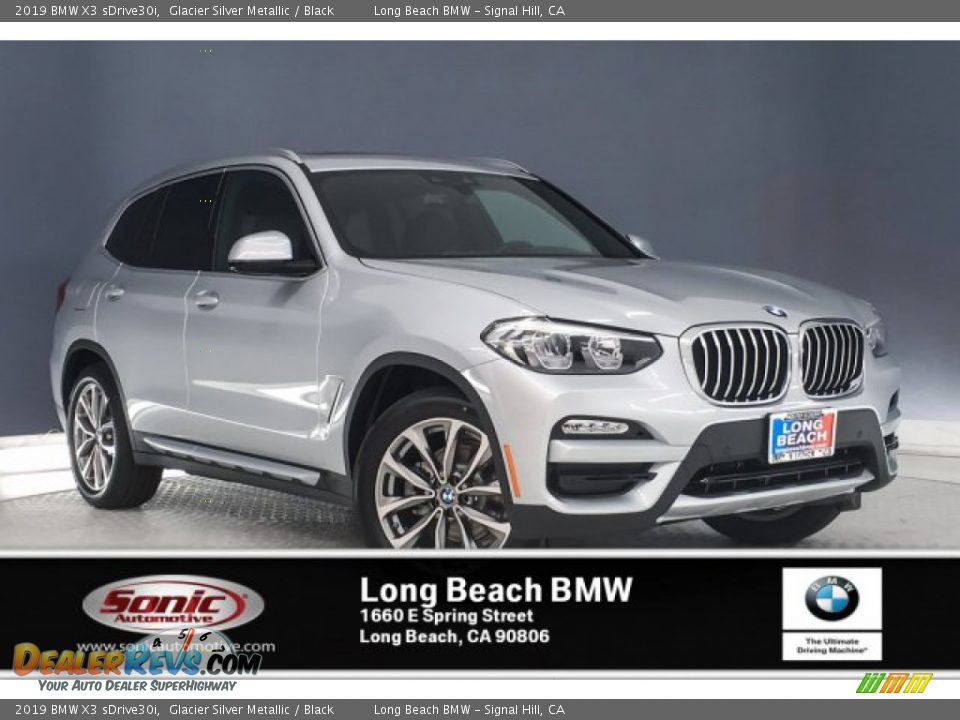 2019 BMW X3 sDrive30i Glacier Silver Metallic / Black Photo #10